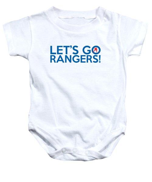 Let's Go Rangers Baby Onesie by Florian Rodarte