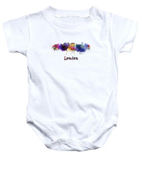 London Skyline In Watercolor Baby Onesie