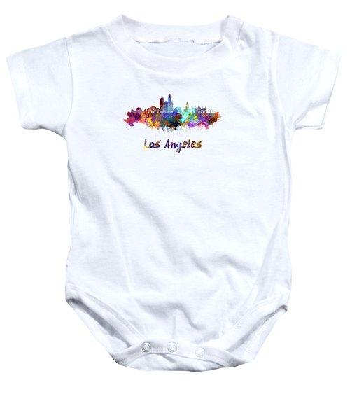 Los Angeles Skyline In Watercolor Baby Onesie