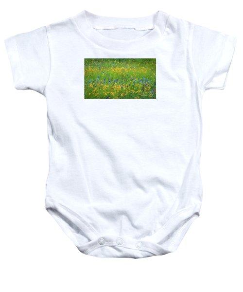 Mixed Wildflowers In Texas 538 Baby Onesie