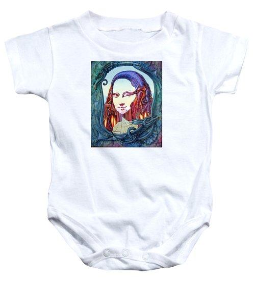 Mona Lisa. Fire Baby Onesie