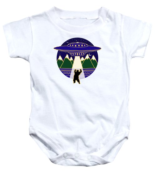 Mothership Takes Bear Baby Onesie by Holly Douglas