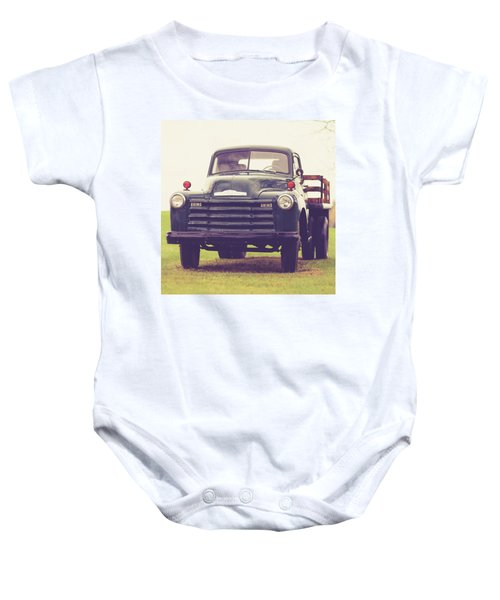 Old Chevy Farm Truck In Vermont Square Baby Onesie