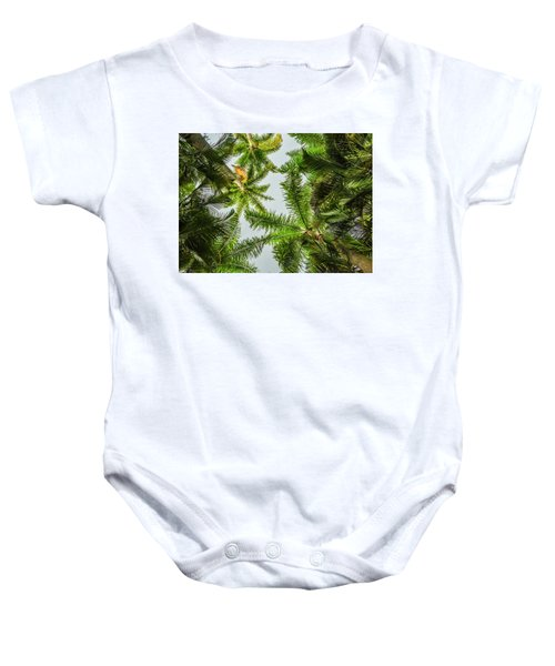 Palm Trees And Blue Sky Baby Onesie