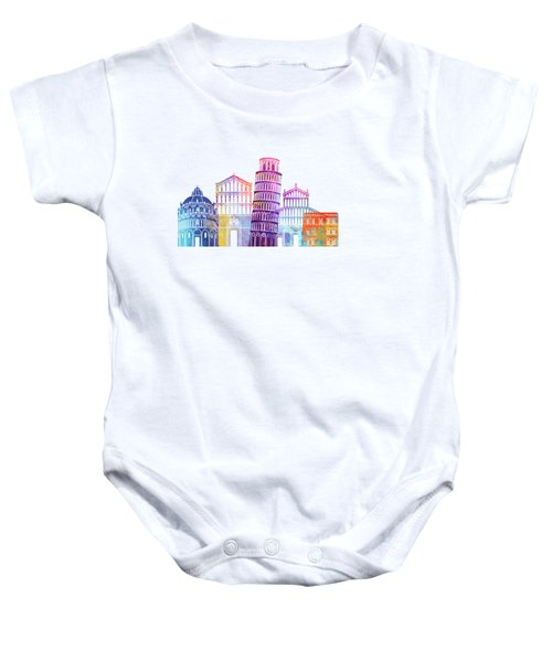 Barcelona Landmarks Watercolor Poster Baby Onesie