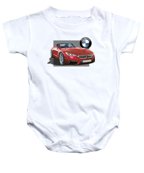 Red 2018 B M W  Z 5 With 3 D Badge  Baby Onesie by Serge Averbukh