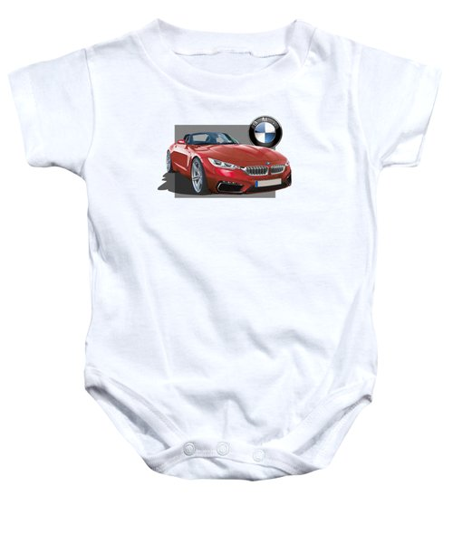 Red 2018 B M W  Z 5 With 3 D Badge  Baby Onesie