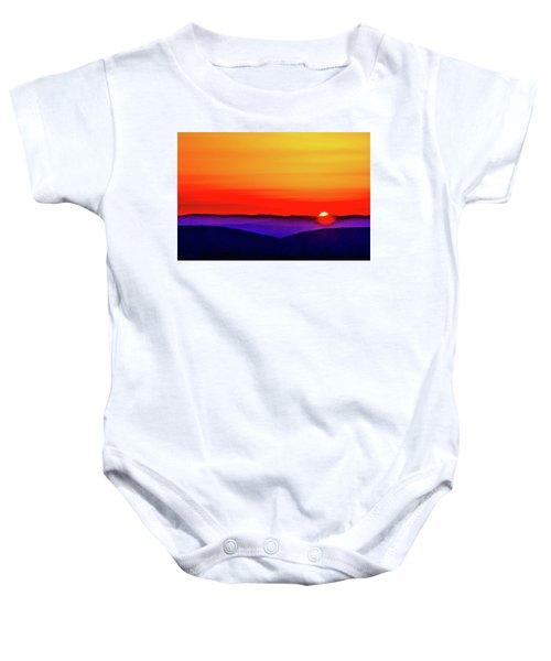 Shenandoah Valley Sunset Baby Onesie