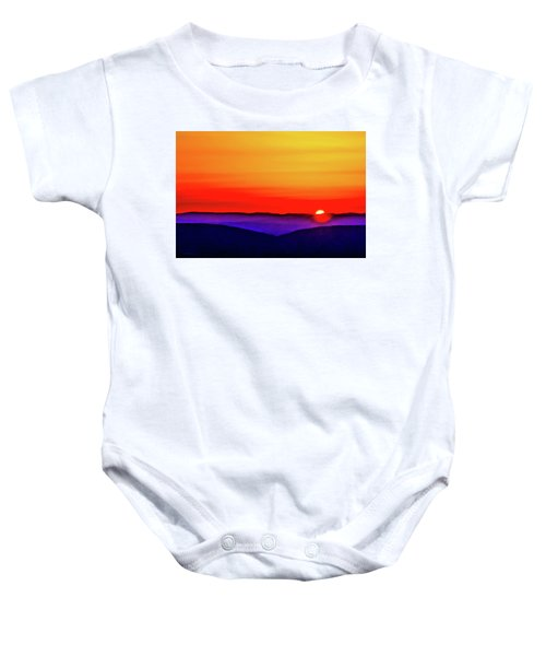 Shenandoah Valley Sunset Baby Onesie