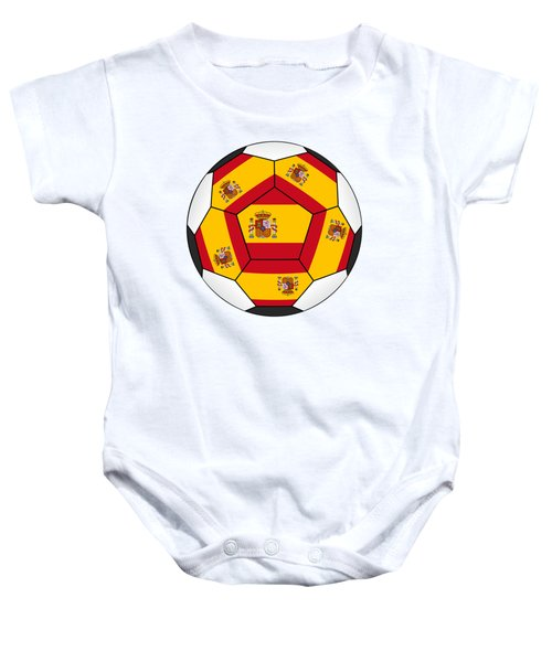 Soccer Ball With Spanish Flag Baby Onesie