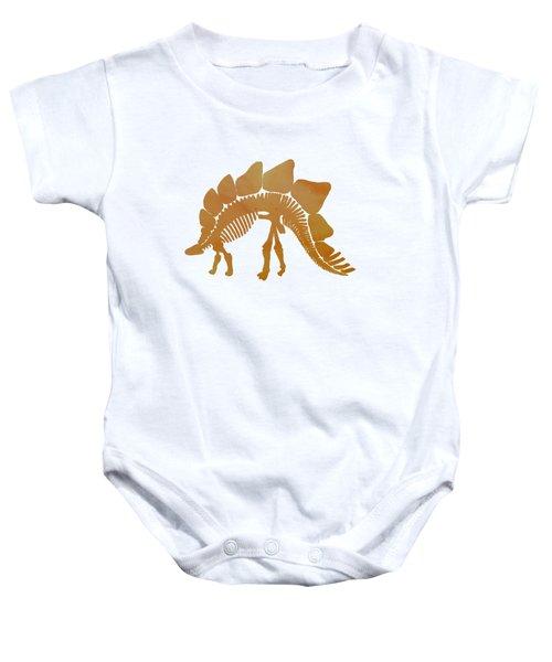 Stegosaurus Skeleton Baby Onesie