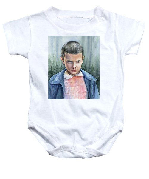 Stranger Things Eleven Portrait Baby Onesie