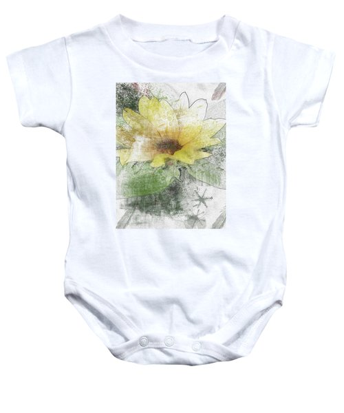 Sunflower Canvas Baby Onesie