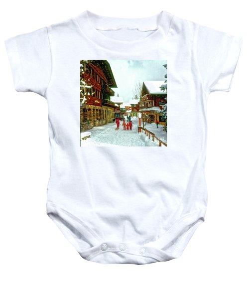 Switzerland Alps Baby Onesie