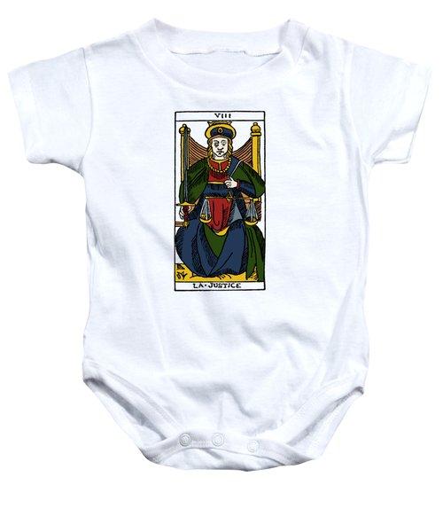 Tarot Card Justice Baby Onesie
