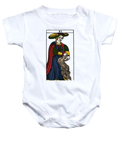 Tarot Card Strength Baby Onesie
