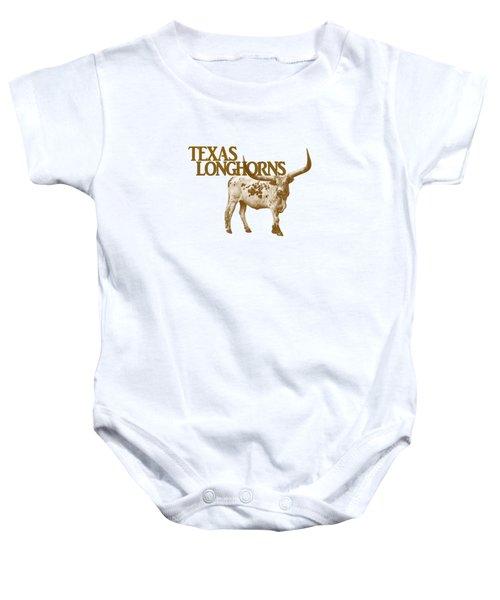 Texas Longhorns Baby Onesie by Priscilla Burgers