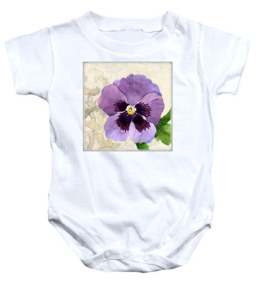 The Promise Of Spring - Pansy Baby Onesie