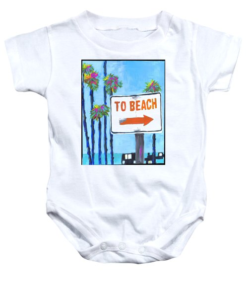 To The Beach Baby Onesie