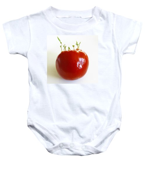 c3df2a0e1 Tomato Seedlings Sprouting Baby Onesie