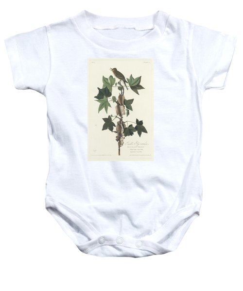 Traill's Flycatcher Baby Onesie by John James Audubon