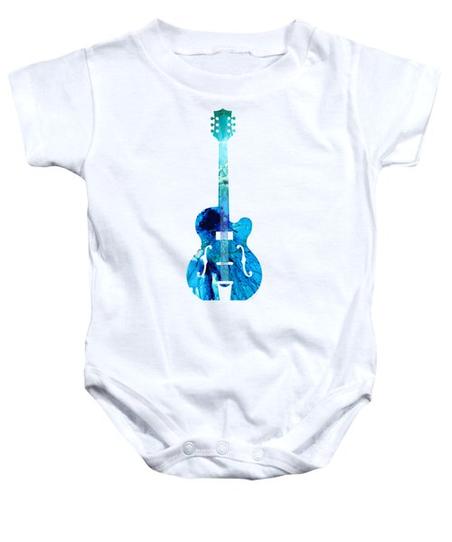 Vintage Guitar 2 - Colorful Abstract Musical Instrument Baby Onesie
