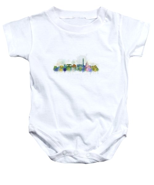 Washington City Skyline Baby Onesie