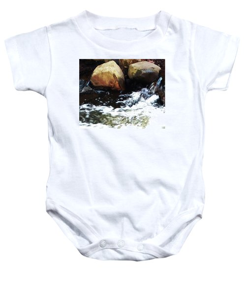 Waterfall Abstract Baby Onesie