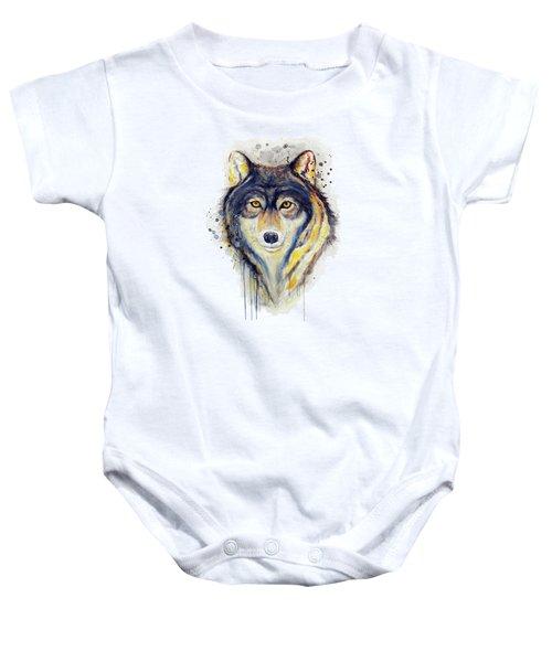 Wolf Head Baby Onesie
