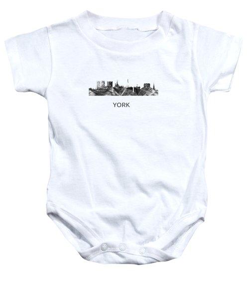 York Skyline England Baby Onesie