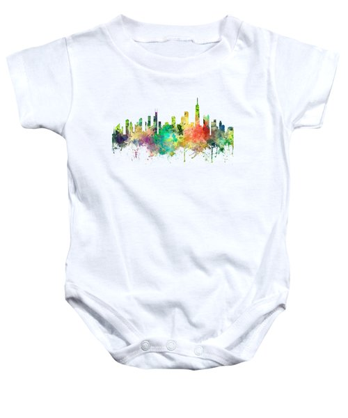 Chicago Illinois Skyline Baby Onesie by Marlene Watson