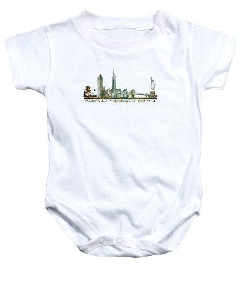 New York City Skyline Baby Onesie