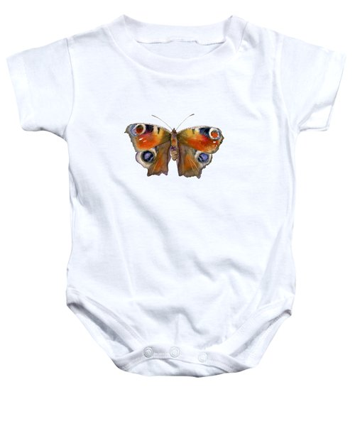 10 Peacock Butterfly Baby Onesie