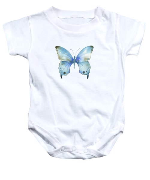 #109 Blue Diana Butterfly Baby Onesie