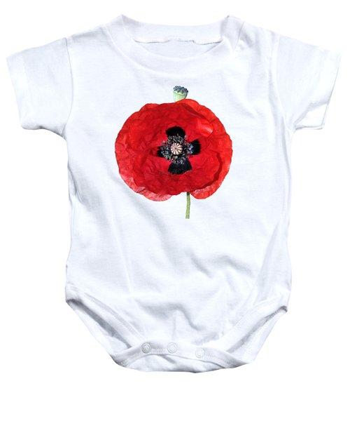 Poppy Flower Baby Onesie