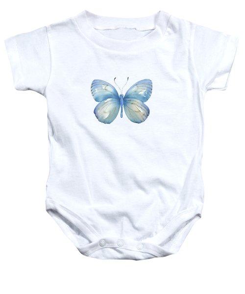 112 Blue Marcia Butterfly Baby Onesie