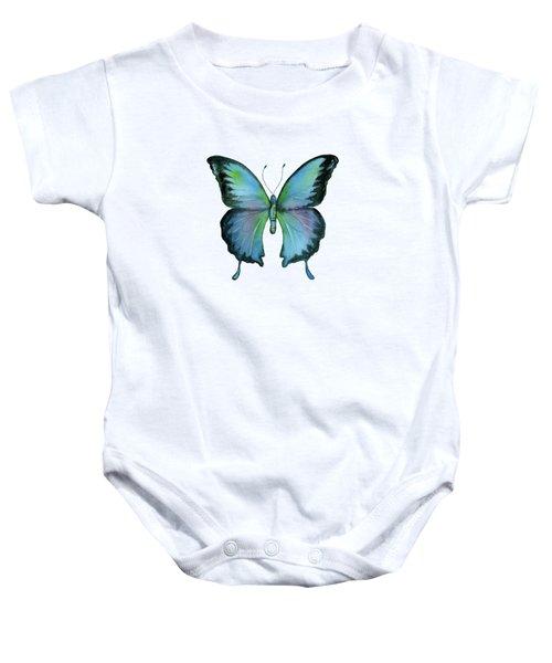 12 Blue Emperor Butterfly Baby Onesie