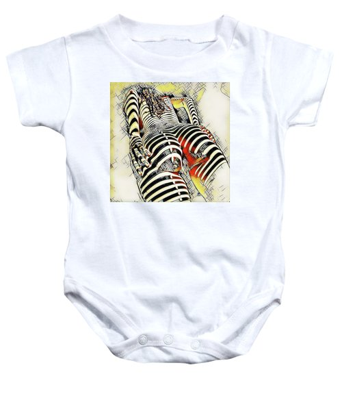 1457s-ak Rear View Nude Erotica In The Style Of Kandinsky Baby Onesie