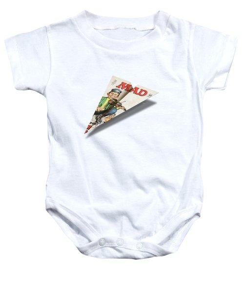 156 Mad Paper Airplane Baby Onesie