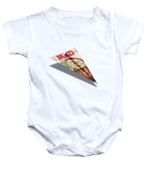 157 Mad Paper Airplane Baby Onesie