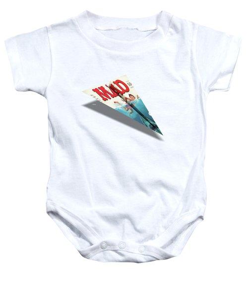 180 Mad Paper Airplanes Baby Onesie