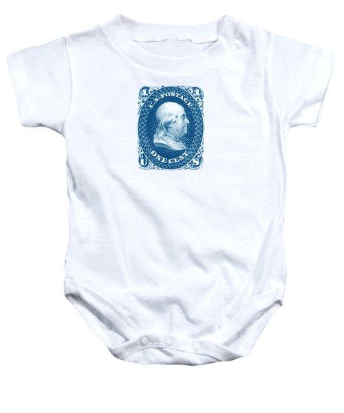 1861 Benjamin Franklin Stamp Baby Onesie by Historic Image