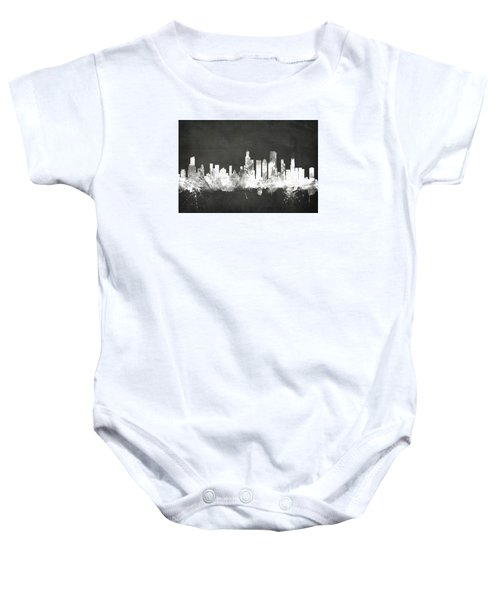 Chicago Illinois Skyline Baby Onesie by Michael Tompsett