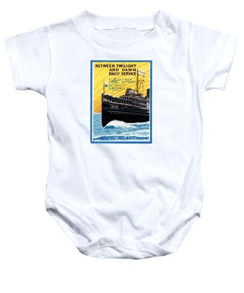 1910 Detroit To Buffalo Steamship Baby Onesie