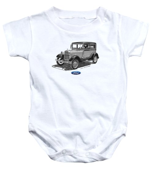 Model A Ford 2 Door Sedan Baby Onesie