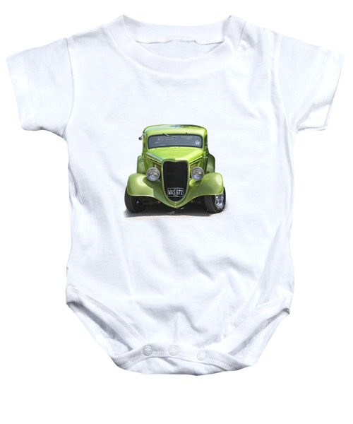 1934 Ford Street Hot Rod On A Transparent Background Baby Onesie