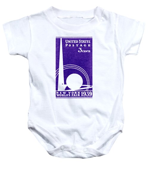 1939 New York Worlds Fair Stamp Baby Onesie