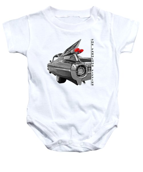 1959 Cadillac Tail Fins Baby Onesie by Gill Billington