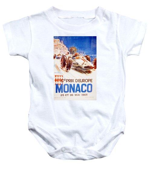 1963 F1 Monaco Grand Prix  Baby Onesie
