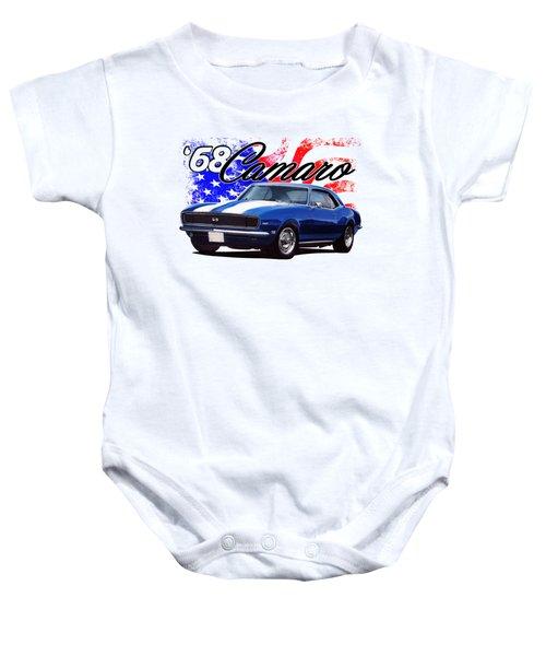 1968 Camaro Stars And Stripes Baby Onesie